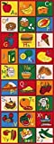 Kids Children 2.5' X 7' Educational Fruit Themed Abc'S Rug Runner Non Skid