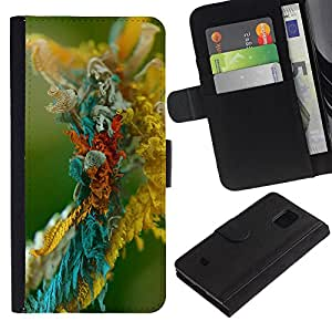Be Good Phone Accessory // Caso del tirón Billetera de Cuero Titular de la tarjeta Carcasa Funda de Protección para Samsung Galaxy S5 Mini, SM-G800, NOT S5 REGULAR! // Micro object