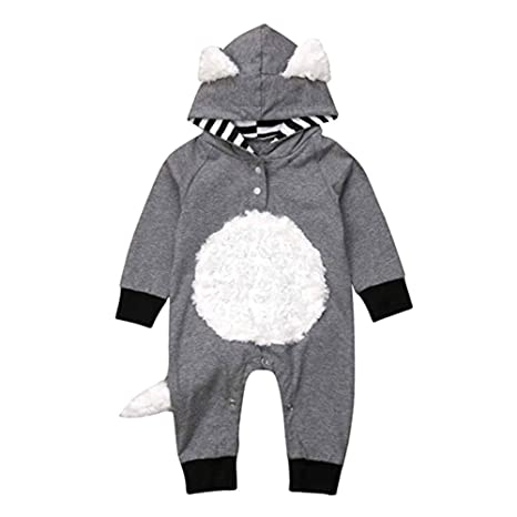 7a71f5aa8ccc LQZ Newborn Infant Baby Girls Boys Cosplay Fox Cartoon Clothes Long ...