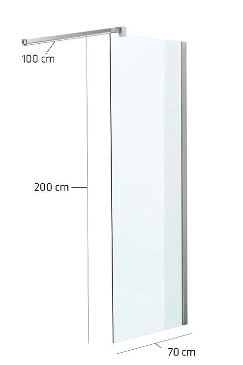 Mampara 70 x 200 x 100 cm cuadrado transparente.: Amazon.es: Jardín