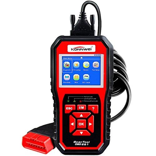 Test Coolant Temperature Sensor (OBDII Auto Diagnostic Code Scanner KONNWEI KW850 Universal Vehicle Engine O2 Sensor Systems Scanner OBD2 EOBD Scanners Tool Check Engine Light Code Reader for all OBD II Protocol Cars Since 1996)