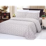Bamboo Living 3 Piece Printed Duvet Cover Set - King Size - Damask Pattern