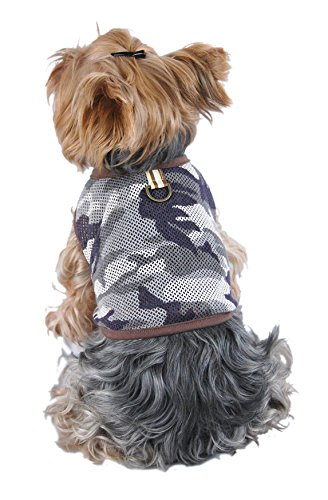 Anima Army Boy Dog Shirt, Camo Green, Small by Anima