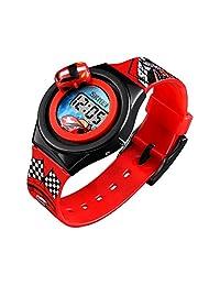 SKMEI Reloj para Niño Digital Diseño Infantil Piloto de Carreras Hora y Fecha Auto Giratorio Modelo 1376. Rojo