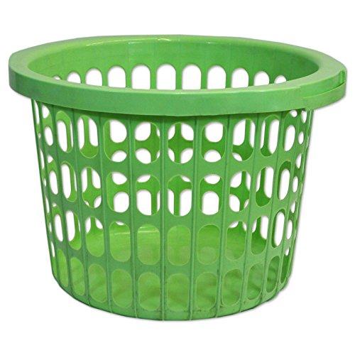 Wäschekorb Wäschesammler Wäschetruhe Wäschetonne Sammelbehälter Aufbewahrung (Wäschekorb 22L rund grün - 22303)