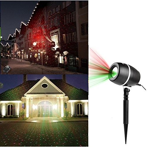 laser projector lights christmas outdoor decorations garden spotlights redgreen moving star landscape light for party holiday stage light