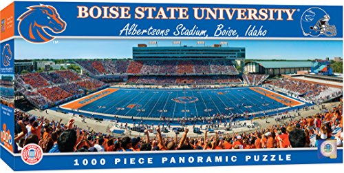 MasterPieces Collegiate Boise State Broncos 1000 Piece Stadium Panoramic Jigsaw Puzzle Boise State Broncos Collectibles