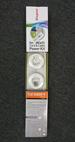 Legrand In-Wall Wiremold Cord & Cable Power Kit WMC701 White