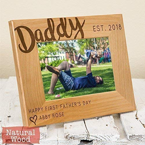 Cheap Personalized Dad Picture Frame – Happy First Fathers Day-Thoughtful Daddy Gift -Fathers Day Gift-Father's Day