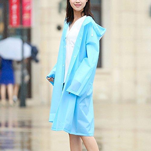 Zhihui poncho ZZHF yuyi Impermeabile lungo poncho impermeabile per uomini e donne Outdoor Travel impermeabile singolo 6 colori opzionali dimensioni opzionale (Colore : F, dimensioni : L.) C