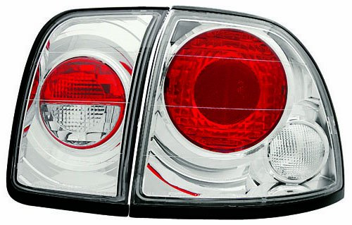 Tail Lamps 4 Piece - IPCW CWT-711C2 Crystal Eyes Crystal Clear Tail Lamp Set - 4 Piece