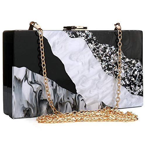 Perspex Marble Acrylic Women Clutch Desiger Box Handbags Women for Purse Pattern gB1KptwMMq