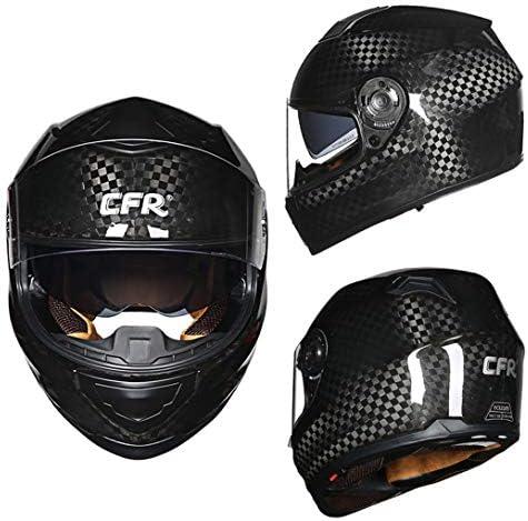 バイク ヘルメット フルフェイスヘルメット カーボンヘルメット メンズ 絵 ヘルメット レディース helmet uvカット ダブルシールド おおきいサイズ 通気吸汗 日焼け止め オールシーズン 内装 洗濯可 おしゃれ ヘルメット ブラック/12k L 頭囲 57-58cm