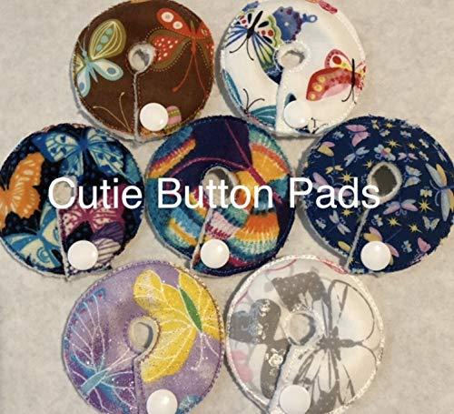 Cutie Button Pads G/j Tube Pad 7 Pack (3 inch, Random Butterflies)