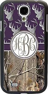 Dark Purple Buck Head #3 Country Girl Camo Monogram Case Cover For Samsung Galaxy S4
