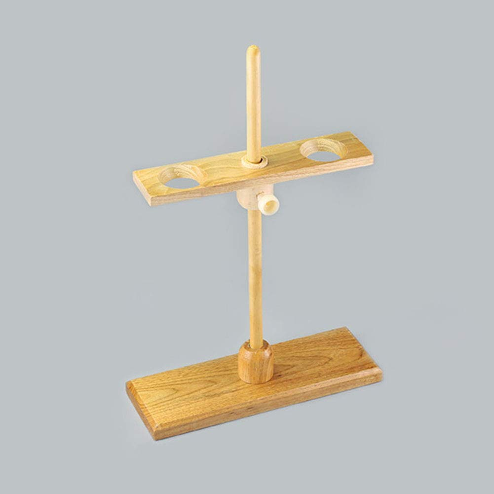 Adamas-Beta Wooden Funnel Stand Support Rack Lab Supplies 2 Holes ...