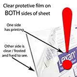 "Plastics 2000 Lexan Sheet - Polycarbonate - .030"" - 1/32"" Thick, Clear, 12"" x 12"" Nominal"