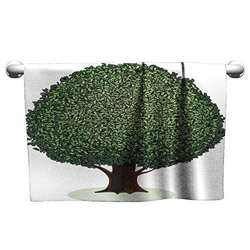 Tankcsard Towel Broad-leaved Tree,Suction Towel bar for Shower
