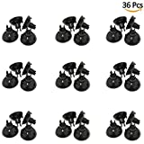 36 PCS Black Airline Tubing Suction Cups for Fish Tank, Fit for 3/16 Inch Aquarium Air Hose