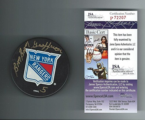 Bernie-boom-Boom-Geoffrion-Signed-New-York-Rangers-Puck-Rare-Authenticated-JSA-Certified-Autographed-NHL-Pucks