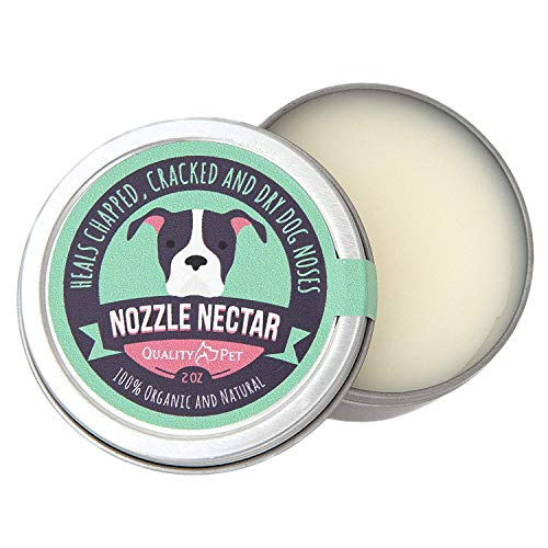 Nozzle Nectar | Dog Nose Balm Relieves and Repairs Your Dog's Dry Cracked and Crusty Nose with 100% Organic and Natural Ingredients |2 OZ| Made in The USA
