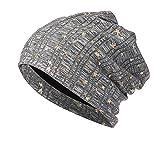 TOOPOOT Skull Caps Men Star Indoors Cotton Slouchy Beanies Soft Knit Slouchy Cap Skull Hat Cap (Gray)