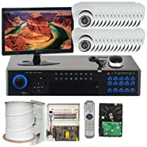 GW Security Inc. 32CHP1 Professional 32-Channel Realtime DVR Security Camera System (Black/White)