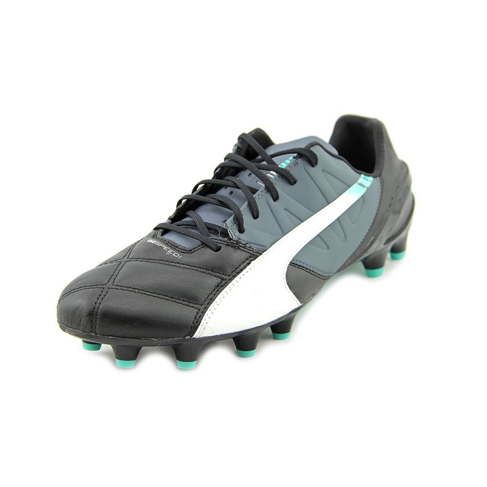 Puma Mens Evospeed 1.3 LTH FG Shoes, Black/White/Turbulence/Pool Green/Scuba Bl Size 10