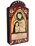 Modern Artisans Santa Ana Patron Saint of Mothers and Grandmothers Handmade Retablo Plaque, 3.25 x 6.25 Inches