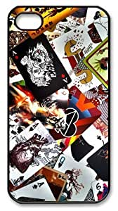 icasepersonalized Personalized Protective Case for iPhone 4/4S - Abstract Cards
