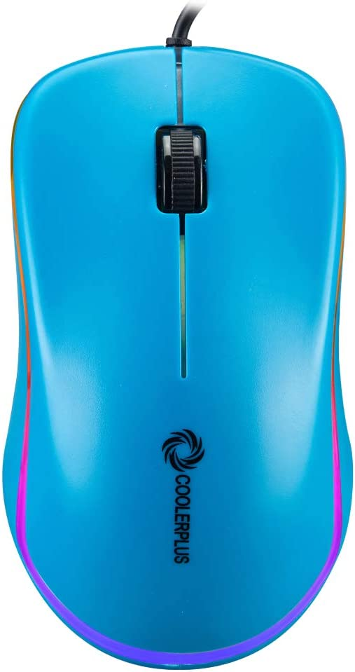 Coolerplus FC112 USB Optical Wired Computer Mouse with Easy Click for Office and Home, 1000DPI, Premium and Portable,Compatible with Windows PC, Laptop, Desktop, Notebook (Blue)