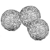 Modern Day Accents Guita Wire Spheres, 5-Inch Diameter, Box of 3