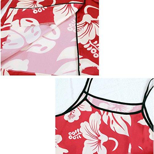 del pigiama maniche e set Color da XL Giappone seta bretelle A sexy Sud lunghe comodi da a seta in donna A Dimensione casa Corea Estate di pigiama PIAOLING pantaloncini xqIY77
