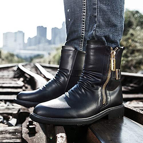 LOVDRAM Stiefel Männer Mode Martin Stiefel Männer Sätze Sätze Sätze Von Füßen Herren Stiefel Reißverschluss Winter Warme Hohe Schuhe In Die Röhre Stiefel Casual Männer Schuhe a3ff75