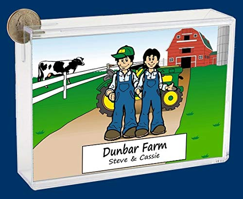 Personalized NTT Cartoon Side Slide Frame Gift: Farming Couple Gift, Ranch Hand