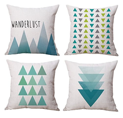 Modern Simple Geometric Style Cotton & Linen Throw Pillow Co