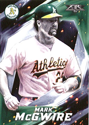 Mark Mcgwire Card - 2017 Topps Fire #22 Mark McGwire Oakland Athletics Baseball Card