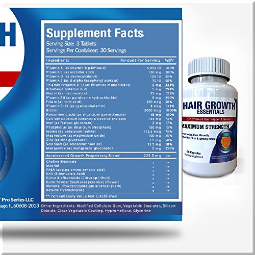 Hair Growth Essentials Pills Supplement For Hair Loss