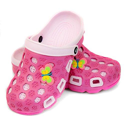AQUA-SPEED Hawaii Kinder Badeschuhe / Clogs - sehr leicht (pink/hellpink, 28)