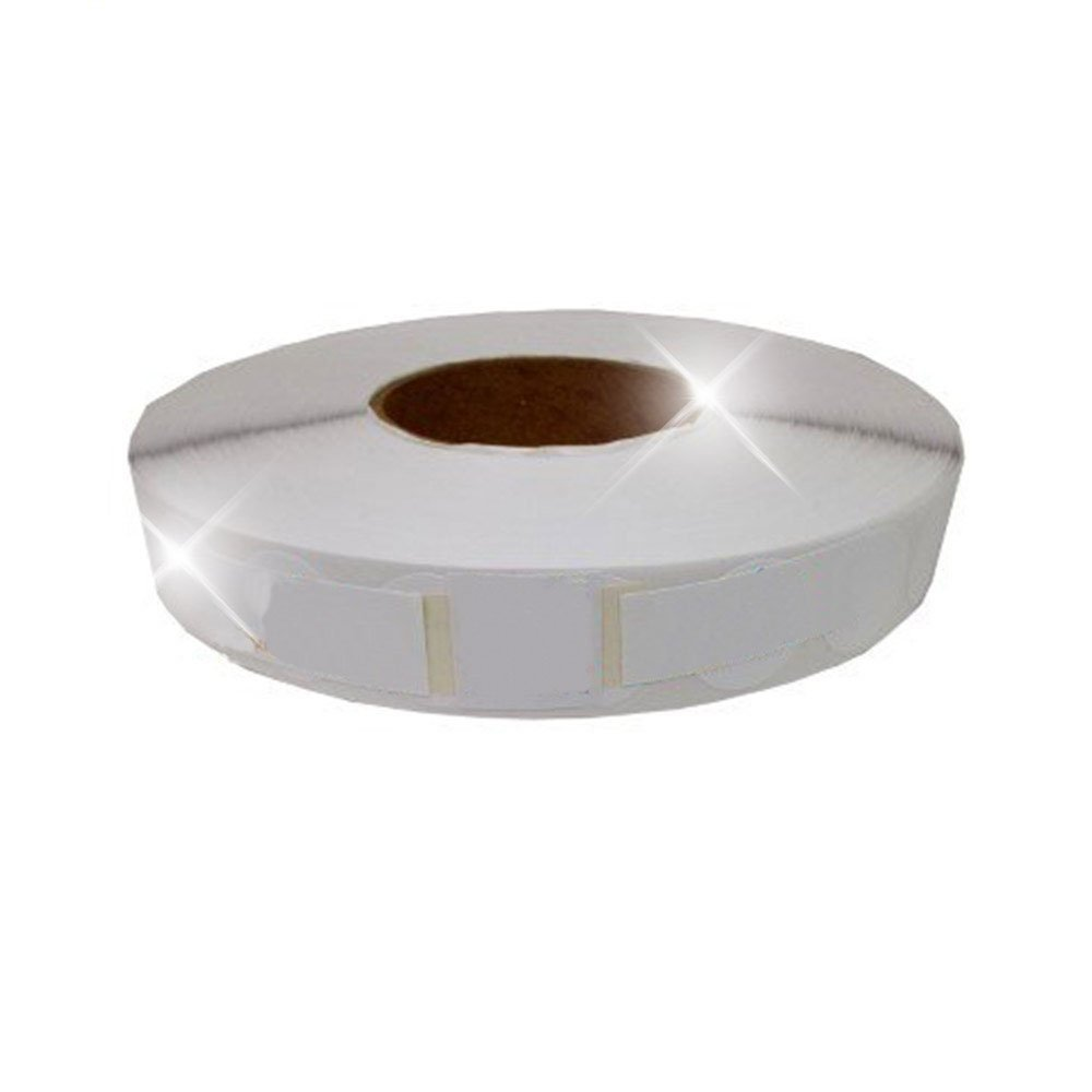 White 1'' Wafer Tab Seals (No Perf) 5000 tabs per roll (1 Roll Per Box) USPS Approved!