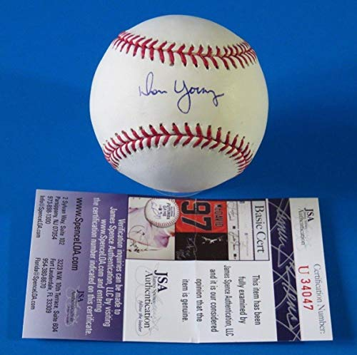 Don Young Autographed Baseball - Rom ~ U34047 - JSA Certified - Autographed Baseballs