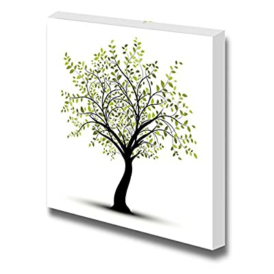Canvas Prints Wall Art - Abstract Green Tree Painting in Clean and Simple Style | Modern Wall Decor/Home Decoration Stretched Gallery Canvas Wrap Giclee Print & Ready to Hang - 12