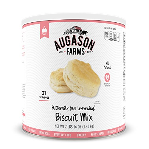 Augason Farms Buttermilk (No Leavening) Biscuit Mix 2 lbs 14 oz No. 10 Can by Augason Farms