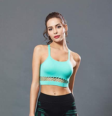 306eb5a52e8 TX ZHAORUI Shockproof No Steel Ring Beauty Back Cross Hollow Tube Top Vest  Double Shoulder Strap Sexy Stretch Yoga Fitness Running Sport Bra