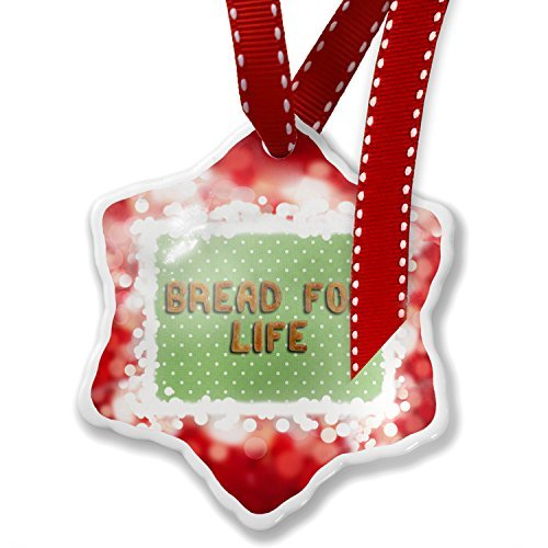 (Christmas Ornament Bread For Life Biscuits Tart Bakery, red)