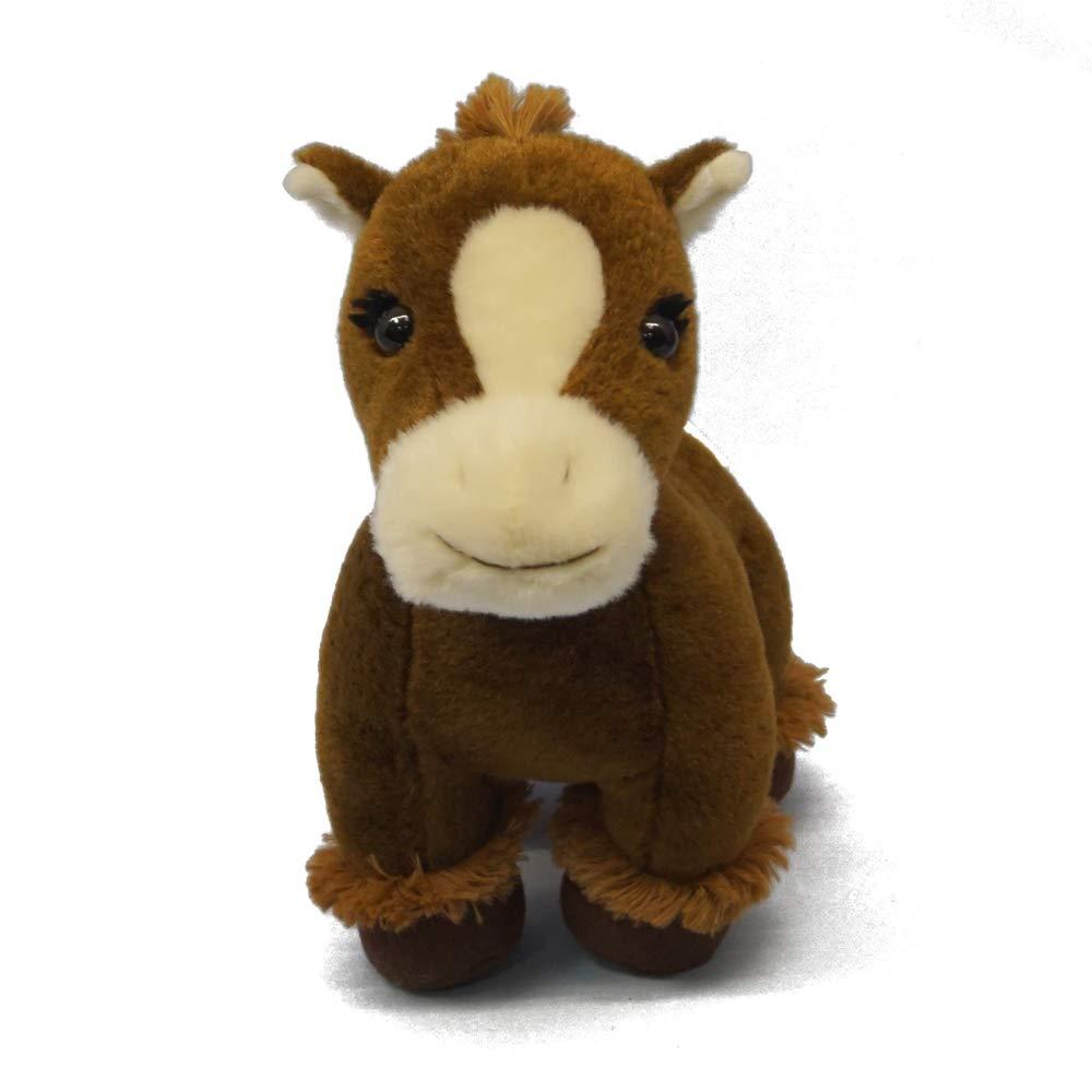 DORE Stuffed Horse Animals Plush Horse Toys,Brown