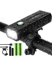 IPSXP 1 000 lumen cykelljus, USB-laddningsbar LED-cykel framstrålkastare högt ljus 6 timmar mountainbike väg cykling säkerhetspendlare ficklampa med 3 lägen, vattentätt cykelljus
