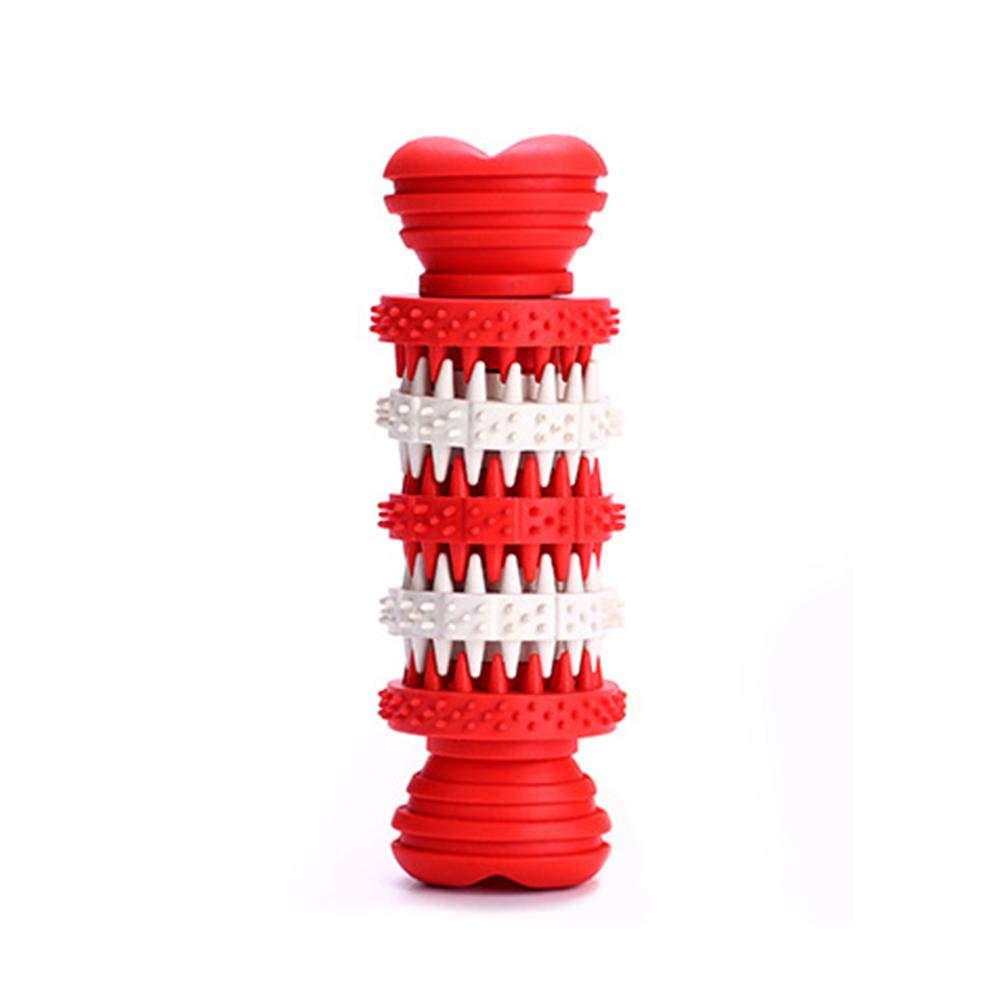 (L) Perros Juguete Interactivo Goma del Entrenamiento Masticar para Mascotas, Squeaker Squeeze Pet Dog Ball Chewing Toys, Bola Interactiva,Limpiador Dental Leegoal