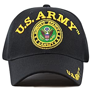 THE HAT DEPOT Official Licensed 3D Embroidered Military One Size Cap