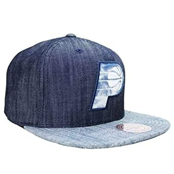 Mitchell   Ness Blue Linen Indiana Pacers Snapback at Amazon Men s ... 7f02fda7699